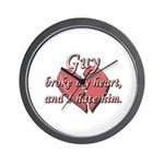 Guy broke my heart and I hate him Wall Clock