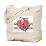 Guy broke my heart and I hate him Tote Bag