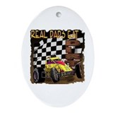 """Real Dads Eat Dirt!"" Oval Ornament"