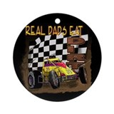 """Real Dads Eat Dirt!"" Ornament (Round)"