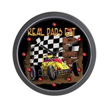 """Real Dads Eat Dirt!"" Wall Clock"