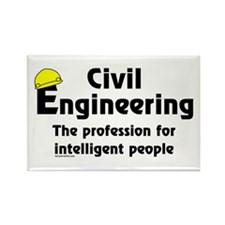 Smart Civil Engineer Rectangle Magnet (100 pack)