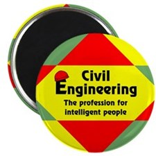 "Smart Civil Engineer 2.25"" Magnet (100 pack)"