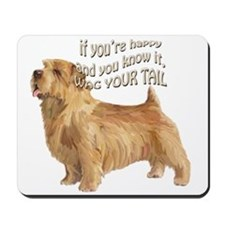 happy norfolk terrier Mousepad