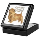 happy norfolk terrier Keepsake Box