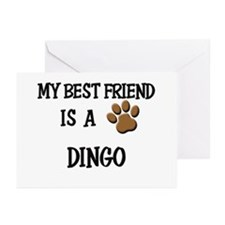 My best friend is a DINGO Greeting Cards (Pk of 10