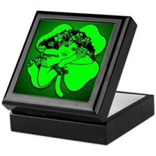 Shamrock Girl Keepsake Box