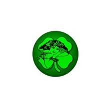 Shamrock Girl Mini Button (10 pack)