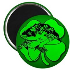 "Shamrock Girl 2.25"" Magnet (10 pack)"