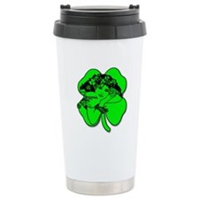 Shamrock Girl Ceramic Travel Mug