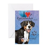 Entlebucher Mountain Dog Greeting Card
