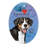 Entlebucher Mountain Dog Oval Ornament