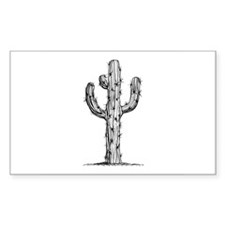 Cactus Rectangle Sticker 10 pk)