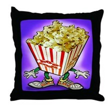 Cute Popcorn humor Throw Pillow