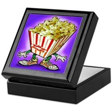 Cute Popcorn humor Keepsake Box