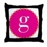 g~pink Throw Pillow