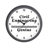 Civil Engineering Genius Wall Clock
