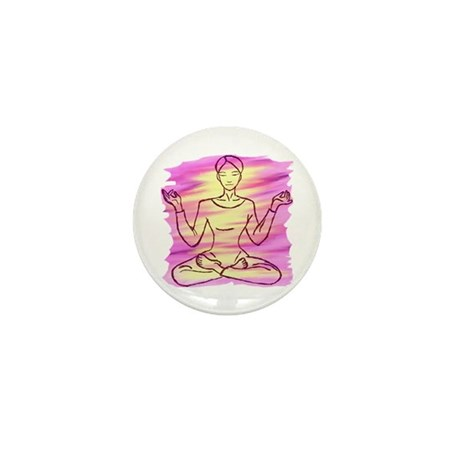 Pretty Yoga Mini Button