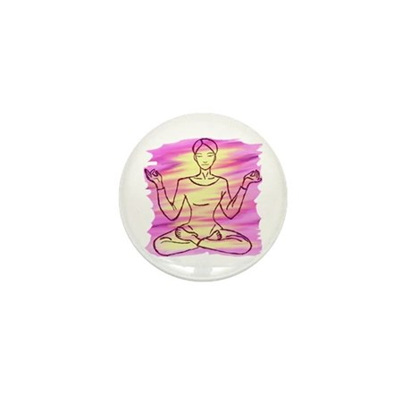 Pretty Yoga Mini Button (10 pack)