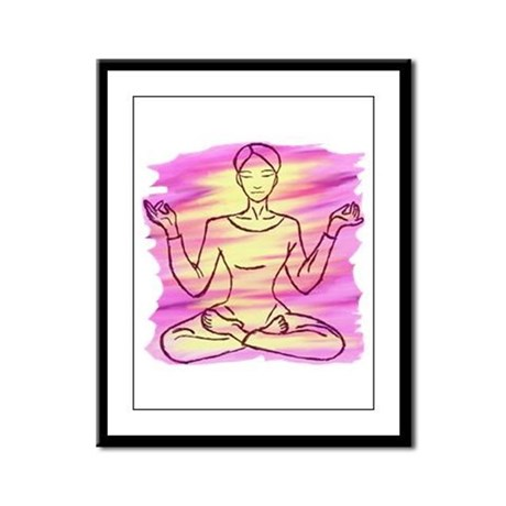 Pretty Yoga Framed Panel Print