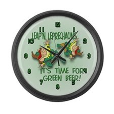 Green Beer Large Wall Clock