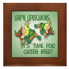 Green Beer Framed Tile