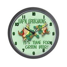 Green Beer Wall Clock