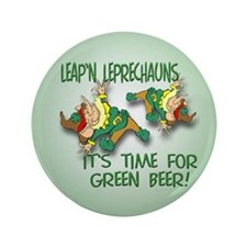 "Green Beer 3.5"" Button (100 pack)"