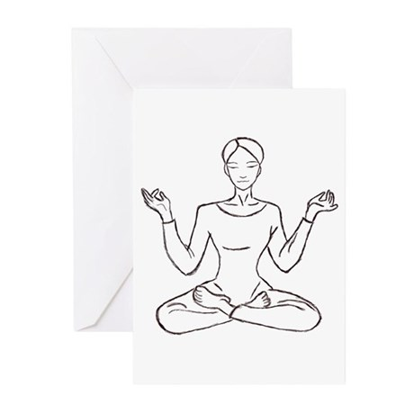 yoga class Greeting Cards (Pk of 10)