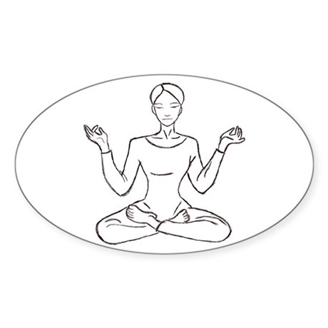 yoga class Oval Sticker