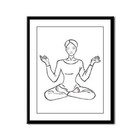 yoga class Framed Panel Print