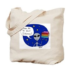 Take Me To Your Library Tote Bag