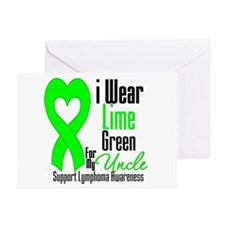 Lymphoma Heart Uncle Greeting Cards (Pk of 20)