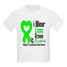 Lymphoma Heart Sister T-Shirt