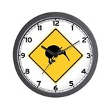 Caution With Kiwis, New Zealand Wall Clock