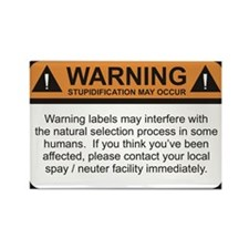 Warning Label Rectangle Magnet (10 pack)