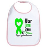 Lymphoma Heart Mom Bib