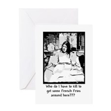Ruby's Fries - two colors Greeting Card