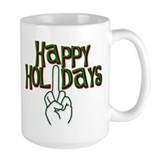 happy holidays finger Kwanzaa Mug
