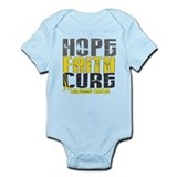 HOPE FAITH CURE Childhood Cancer Infant Bodysuit
