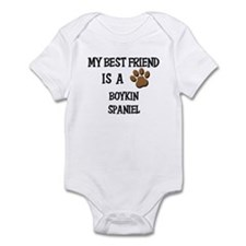 My best friend is a BOYKIN SPANIEL Infant Bodysuit