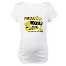 PEACE LOVE CURE Childhood Cancer Shirt