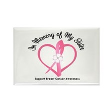BreastCancerMemorySister Rectangle Magnet (100 pac