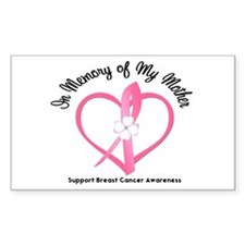 BreastCancerMemoryMother Rectangle Decal