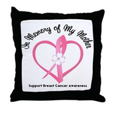 BreastCancerMemoryMother Throw Pillow