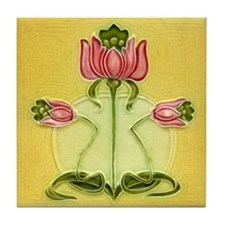 Mission Style Rose Art Wall Tile or Coaster