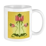 Mission Style Rose Art Tile Coffee Mug