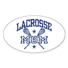 Lacrosse Mom Oval Decal