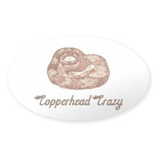 Copperhead crazy snake Oval Decal