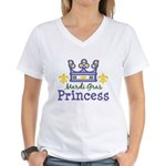 Mardi Gras Princess Women's V-Neck T-Shirt